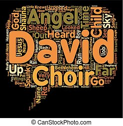 The Angel Child text background wordcloud concept