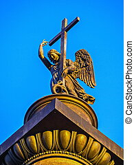The angel of St. Petersburg on Palace square.