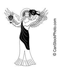the angel woman black