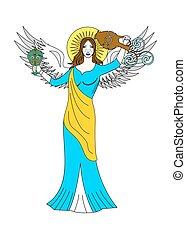 the angel woman
