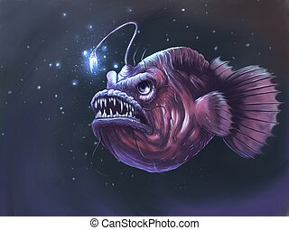 The angler fish creature