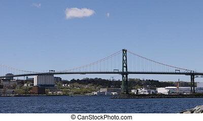 Angus MacDonald Bridge from Halifax to Dartmouth, Nova...