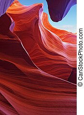 The Antelope canyon. Navajo Reservation
