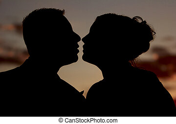 The Anticipated Kiss At Sunset