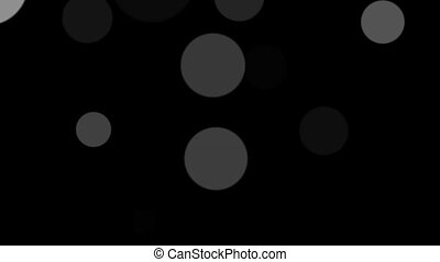 The appearance of gray circles on a black background HD 1920