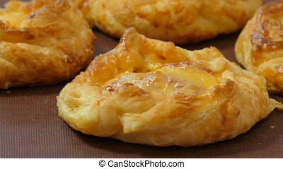 the appetizing baked pies - appetizing baked pies on a...