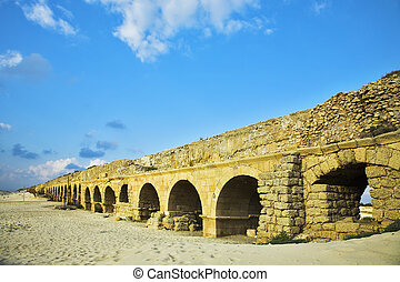 The aqueduct of the Roman period at coast