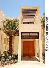 The Arabic style modern villa at luxury hotel, Abu Dhabi, UAE