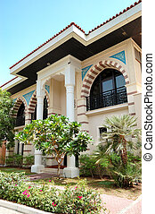 The Arabic style modern villa at luxury hotel, Dubai, UAE