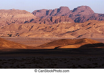 The Arava valley in Israel