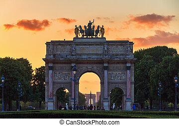 The Arc de Triomphe du Carrousel