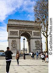 The Arc De triumph at Champs Elysees