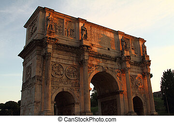 The arch of Constantine in Rome
