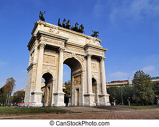 The Arch of Peace, Milan, Lombardy, Italy
