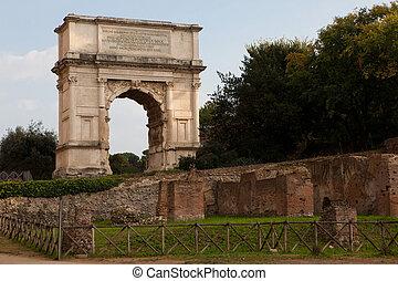 The Arch of Titus (Arco di Tito), a 1st-century honorific...