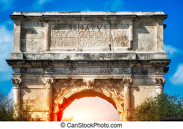The Arch of Titus, Rome. Italy