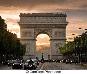 The Arch. - The Triumphal Arch (Arc de Triomphe de l'Etoile)...