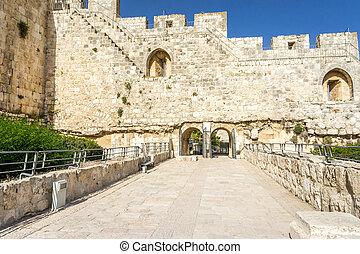 The Archaeological park Davidson Center in Jerusalem, Israel...