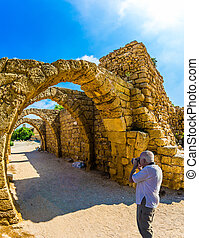 The Archaeological Park - The remains of the covered arcades...