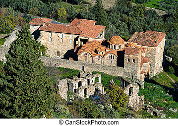 The archaeological site of Mystras in Greece