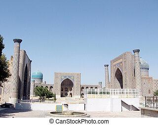 The architectural ensemble Registan in Samarkand