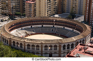 The arena for corrida in Spain