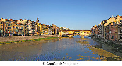 the Arno river, florence italy