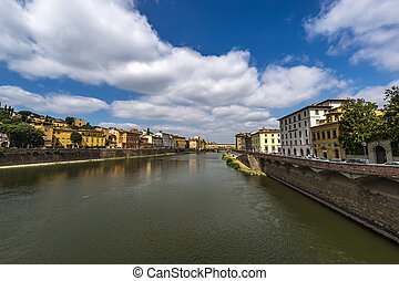 Arno river - The Arno river of Florence, Italy.