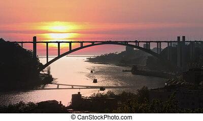 The Arrabida bridge in Porto, Portugal