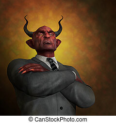 The Arrogance of Evil - An arrogant ruthless demon in...