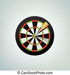 The arrow in bulls eye. Color vector illustration - The...