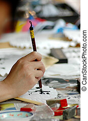 Chinese calligraphy - The art of fan - Chinese calligraphy