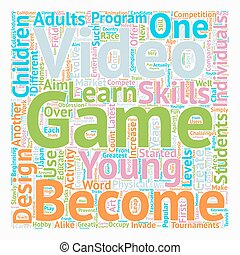 The Art Of Video Game Design text background wordcloud concept