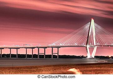 The Arthur Ravenel Jr. Bridge that connects Charleston to Mount