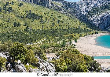 Cuber reservoir in the Sierra de Tramuntana, Mallorca, Spain
