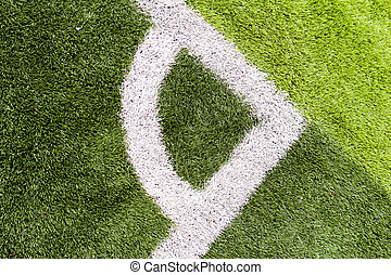 The artificial turf soccer field