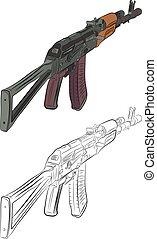 Assault Rifle Ak 47 Illustrations And Clip Art 155 Assault Rifle Ak