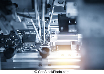 The assembly line of electronic board