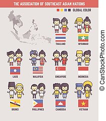 the association of southeast asian nations cartoon...