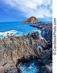 The Atlantic coast of Madeira