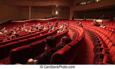 The audience in the cinema