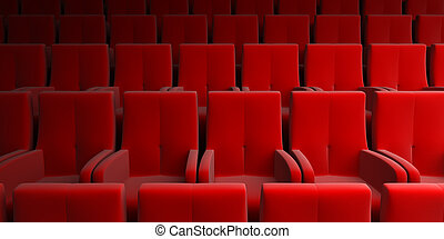 auditorium with red seat - the auditorium with red seat