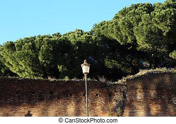 The Aurelian Walls in Rome