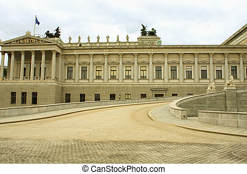 The Austrian Parliament in Vienna.