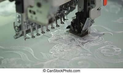 the automatic sewing machine and item of clothing, Detail of...