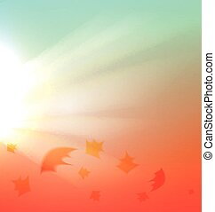 The Autumn abstract background