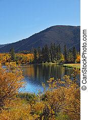 The autumn on Northern lake