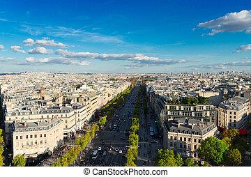 The Avenue des Champs-Elysees, Paris