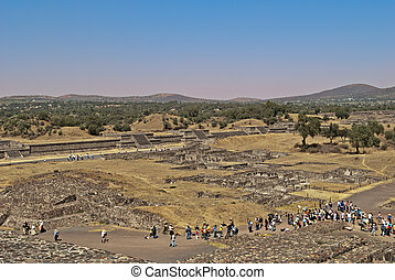 The Avenue of death, city of Teotihuacan