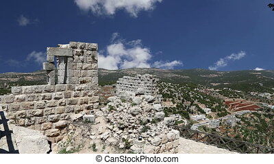 castle of Ajloun in northern Jordan - The ayyubid castle of...